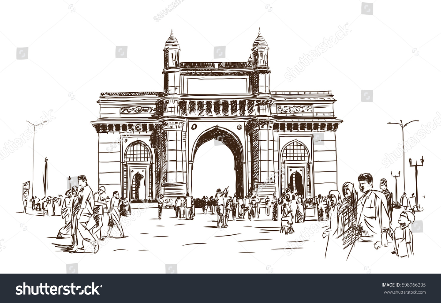 1500x1030 India Gate Images Pencil Drawing Hand Drawn Sketch Gate Way India
