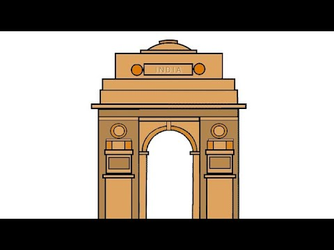 480x360 India Gate Drawing