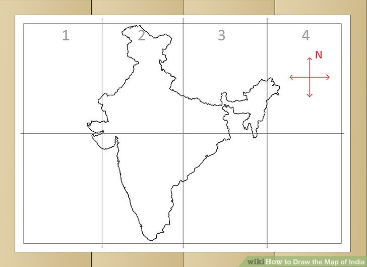728x529 How To Draw The Map Of India (With Pictures)