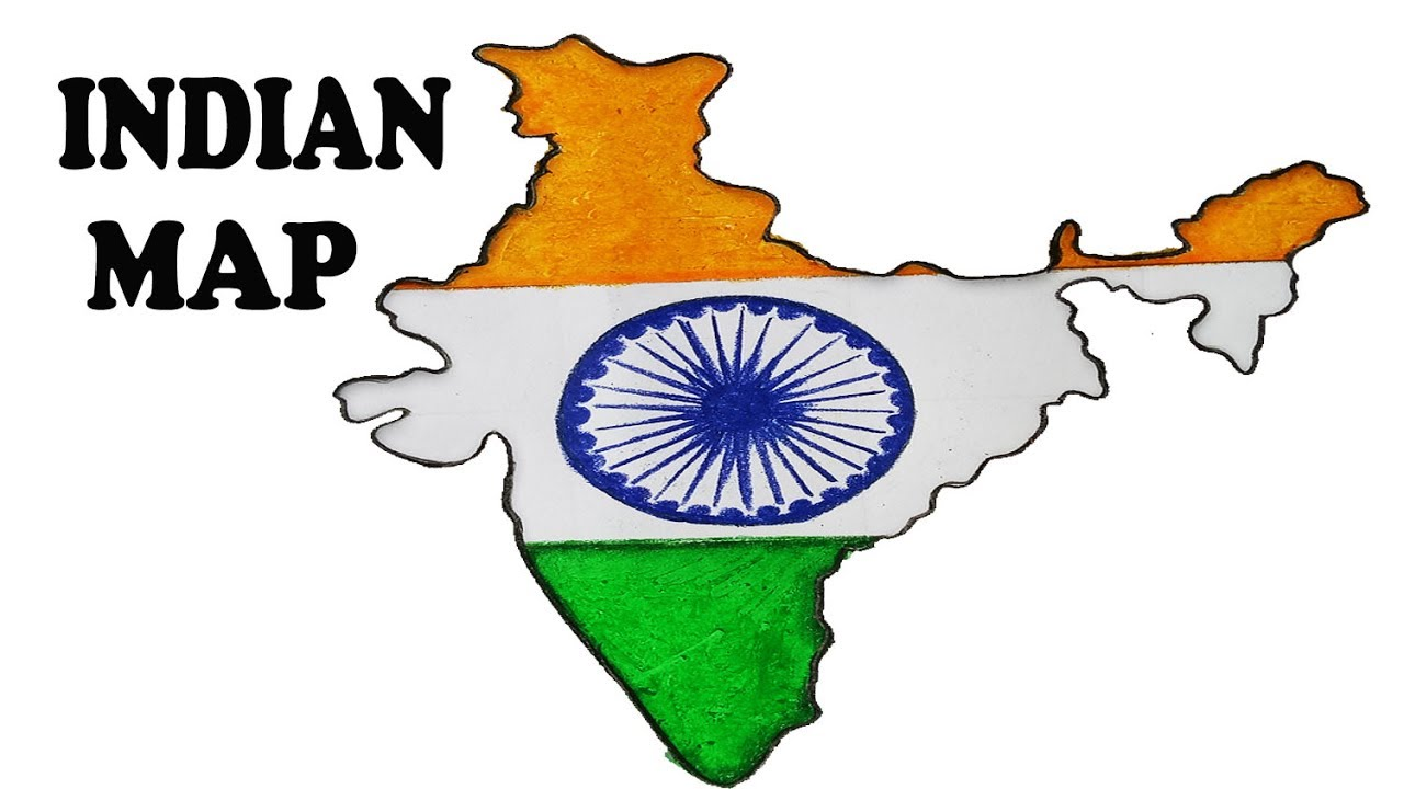 1280x720 How To Draw Indian Map.step By Step(Easy Draw)
