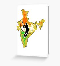 210x230 India Map Drawing Greeting Cards Redbubble