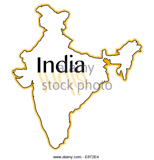 520x540 India Map Outline Cut Out Stock Images Amp Pictures