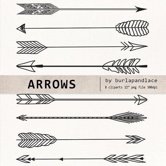 570x570 Hand Drawn Clipart Arrows, Arrows Clipart, Navaho Clipart, Arrows
