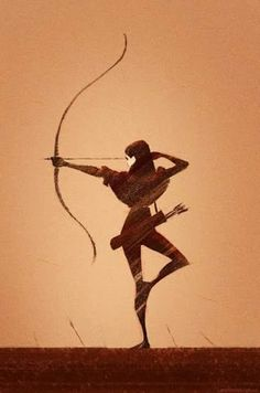 236x356 Indian Girl Bow And Arrow Drawing Ink Art By Chiccharcoals