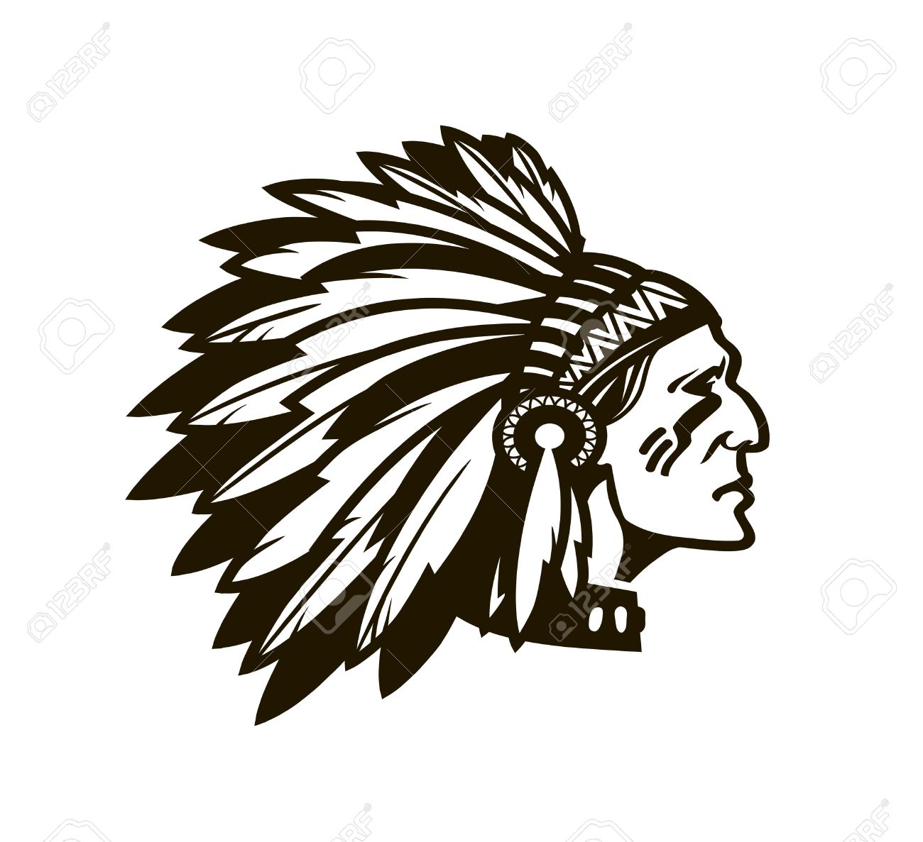 indian chief drawing at getdrawings com free for personal use rh getdrawings com indian headdress clipart indian head logo clip art