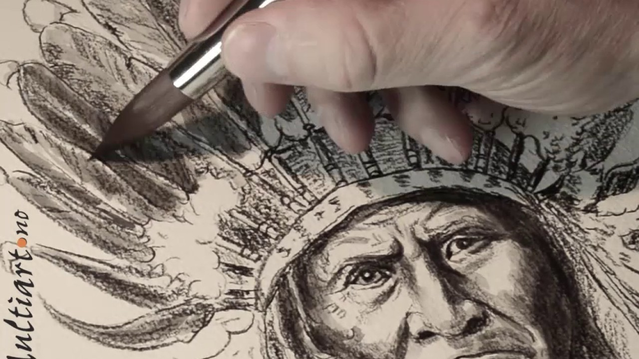 1280x720 Drawing Of The Indian Chief Geronimo