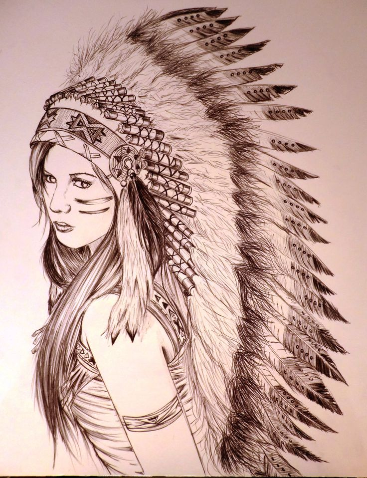 736x958 Image Result For Female Native American Chief Drawing Tattoos