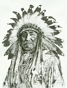 231x300 Indian Chief Drawings