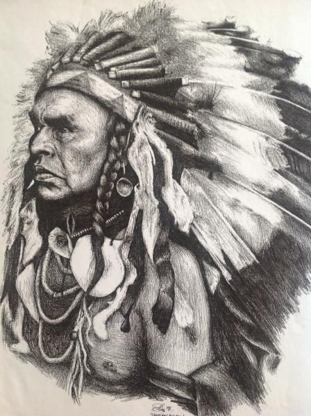 448x600 Native American Pencil Drawings Native American Indian Chief
