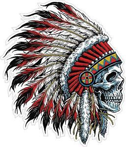 257x300 INDIAN CHIEF HEAD FEATHERS HEADDRESS TRIBAL SKULL SKULLS TRIBE