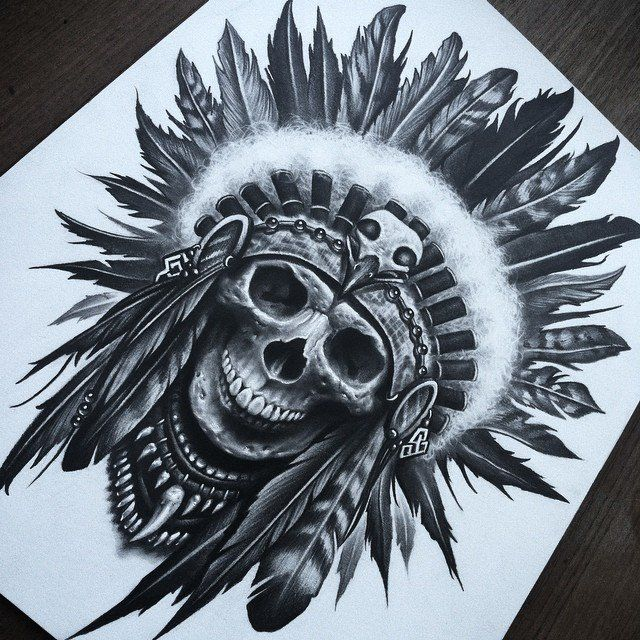 640x640 SkullHeaddress by herrerabrandon60 on DeviantArt Guaton tattoo