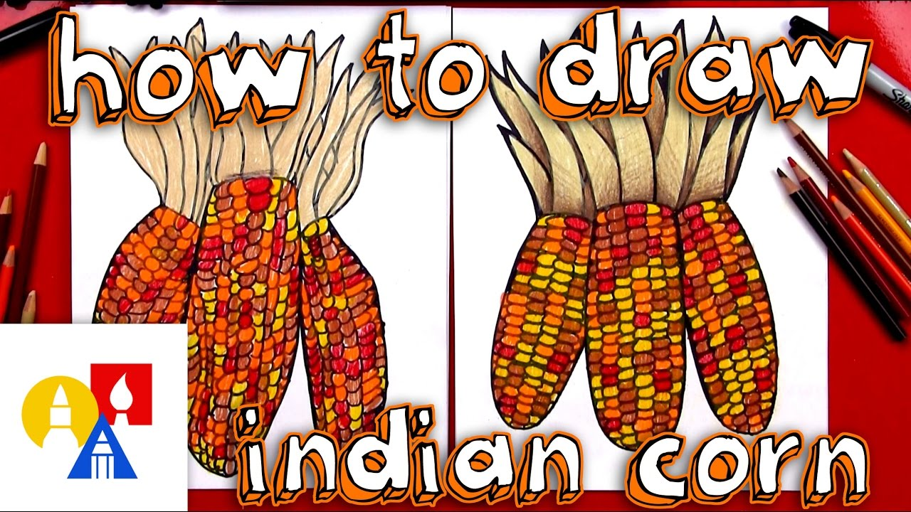 1280x720 How To Draw Indian Corn (Flint Corn)