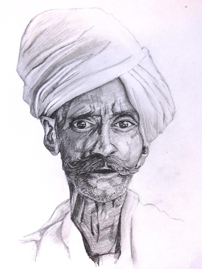 768x1024 Old Indian Man By Xandox