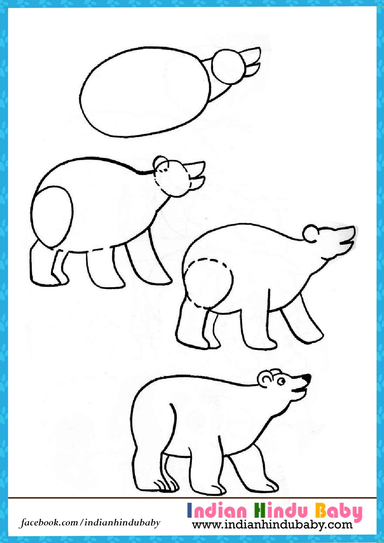 1240x1754 Teach Your Kid To Draw Bear With Simple Drawing Tips