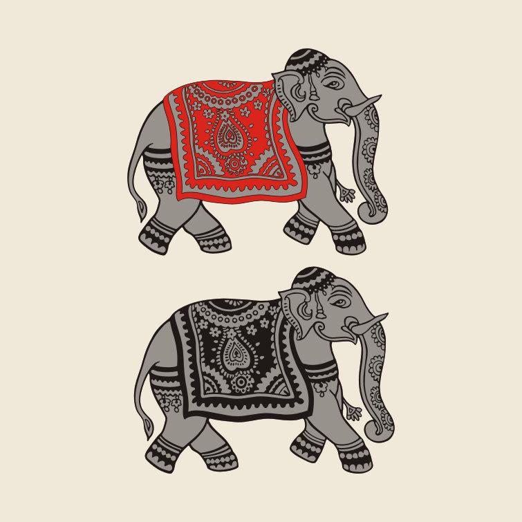 755x755 Indian Elephant Drawing Svg Pdf For Vinyl Cutting