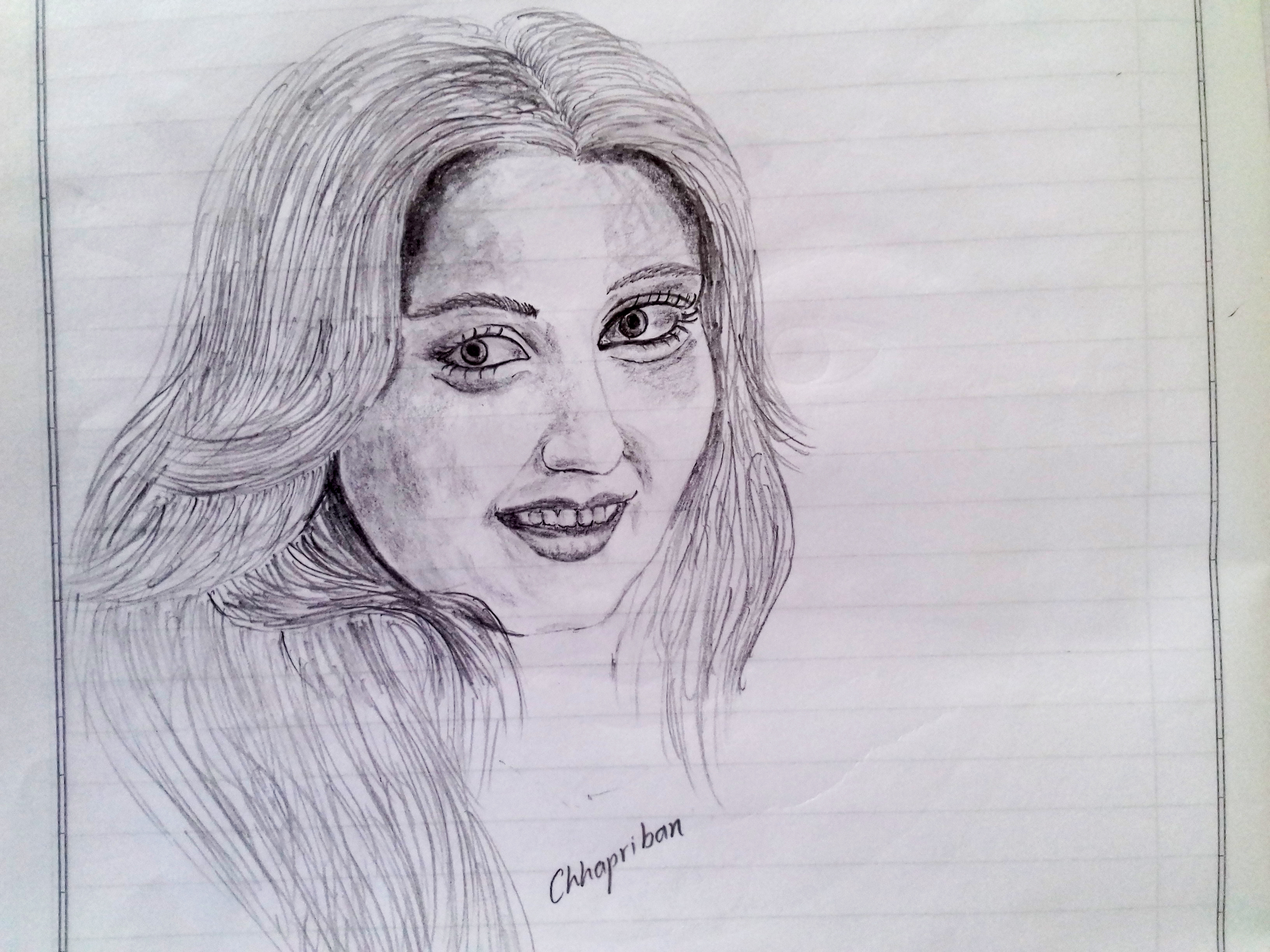 3264x2448 cute indian girl pencil sketch indian girls