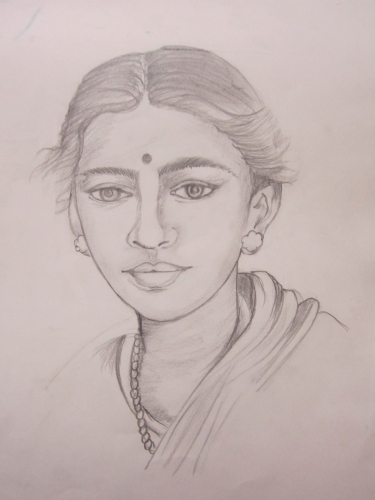 375x500 Gallery Drawing Indian Faces,