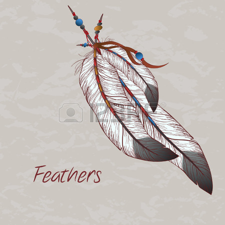 450x450 21,259 Indian Feather Stock Illustrations, Cliparts And Royalty