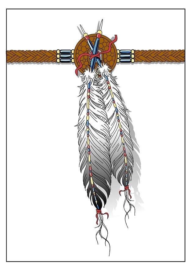 626x885 Indian Feather Tattoo Design