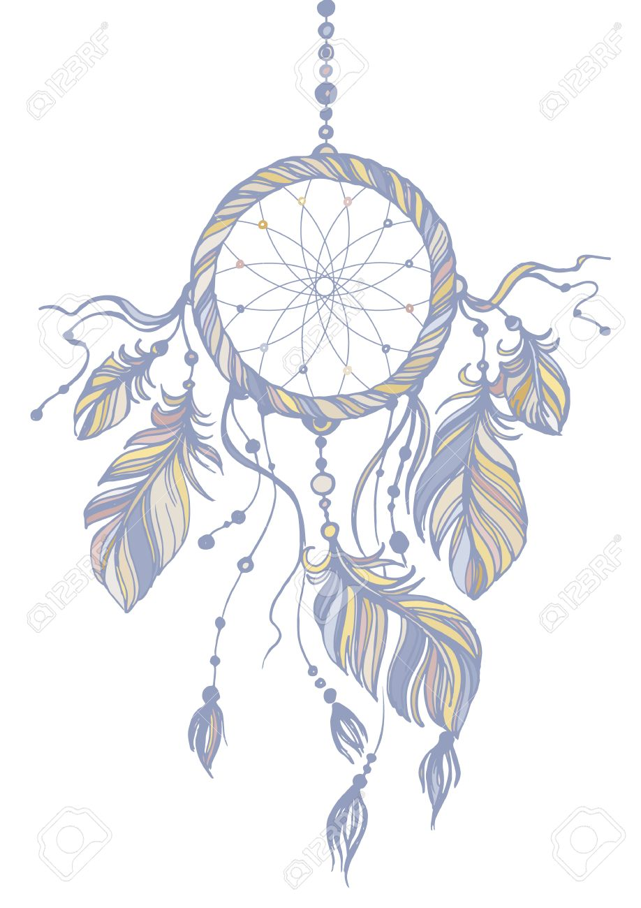918x1300 Dream Catcher, Traditional Native American Indian Symbol. Feathers