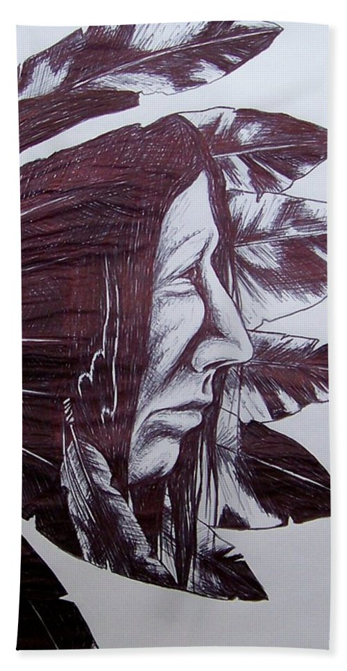 500x967 Indian Feathers Beach Sheet For Sale By Michael Tmad Finney