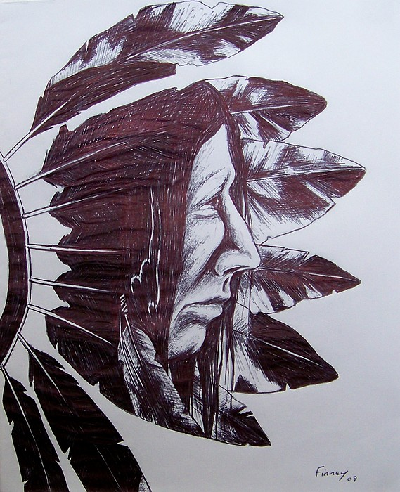 569x700 Indian Feathers Drawing By Michael Tmad Finney