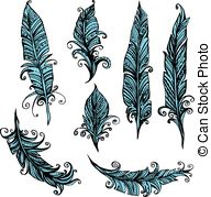 192x179 Vector Seamless Ethnic Indian Feathers Plumage Pattern Vector