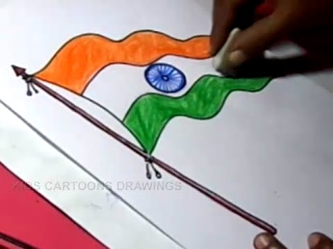 480x360 How To Draw Indian Flag Drawing Step By Step In Telugu For Kids
