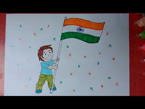 480x360 How To Draw Indian Flag Step By Step Very Easily For Kids