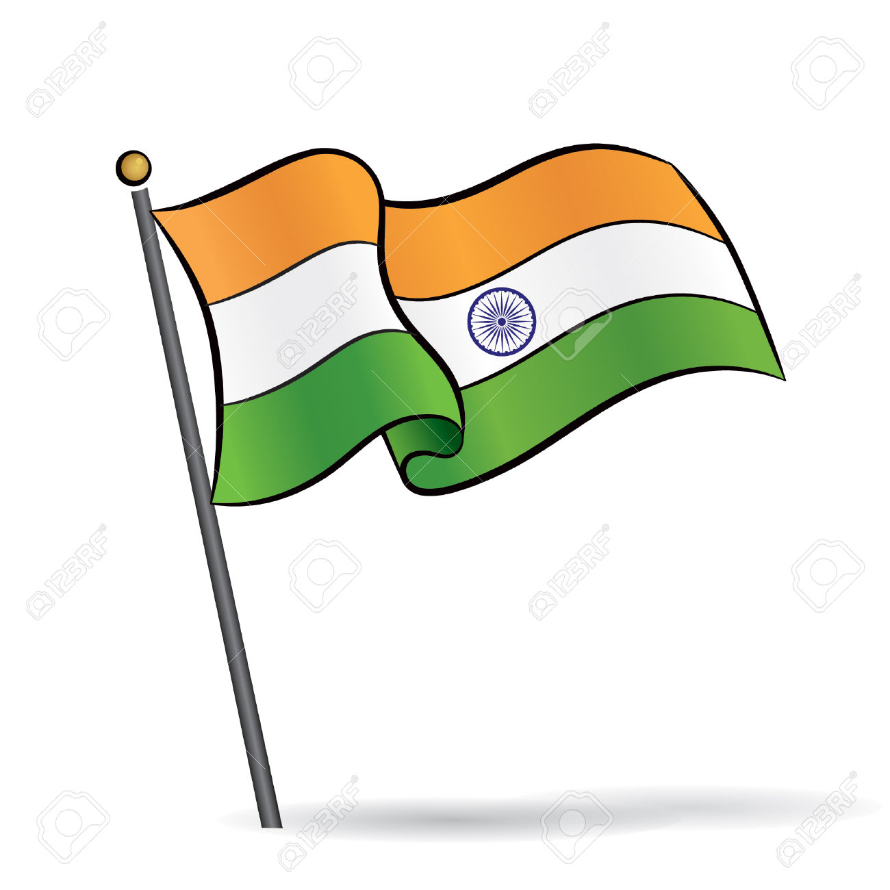 1300x1300 Indian Flag Clipart 5 Clipart Station