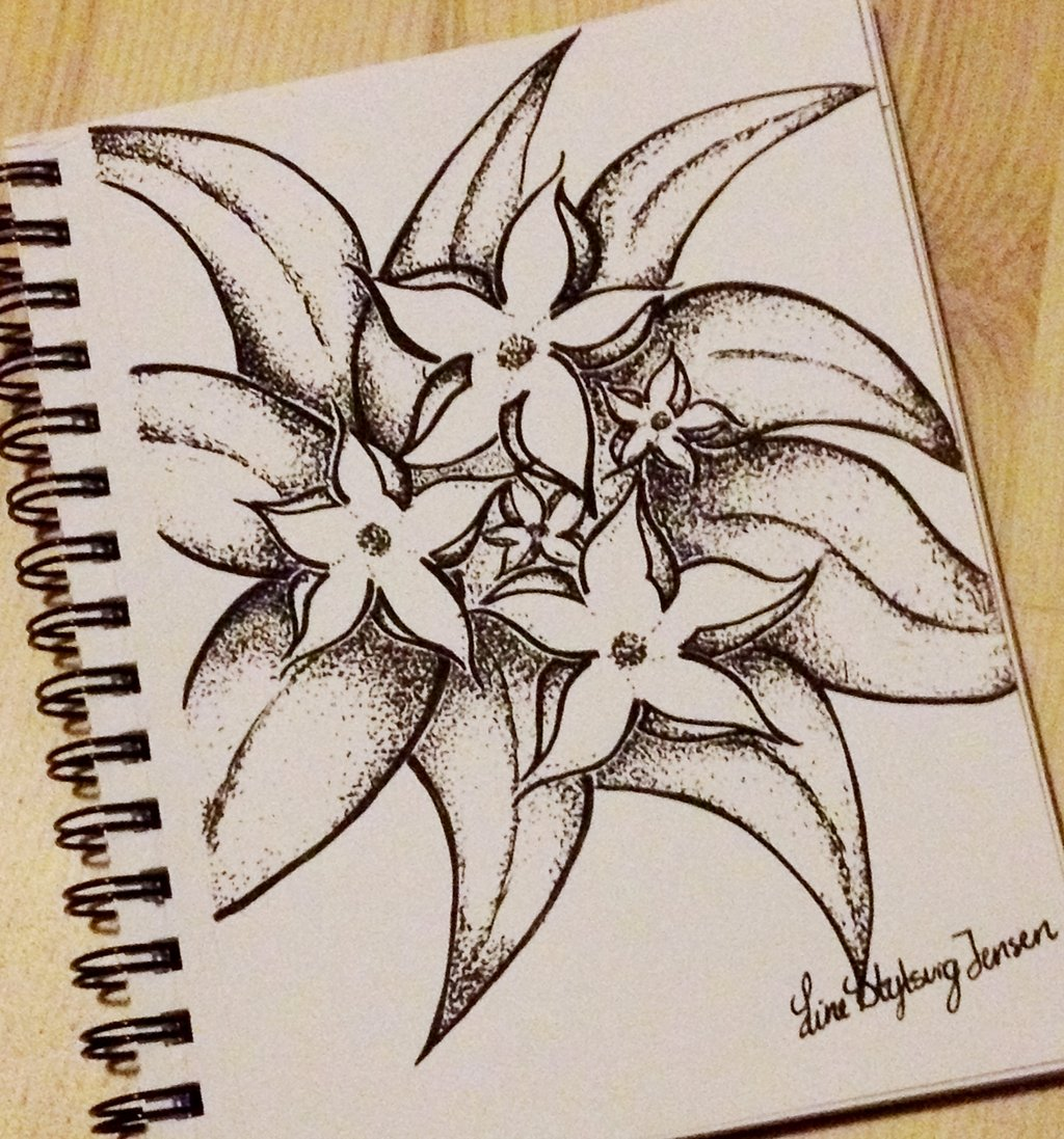 1024x1097 Dotted Flowers