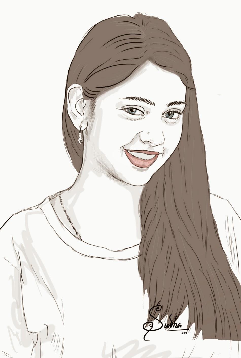 950x1409 Indian Girl Drawing Images Madhuneni Sudha