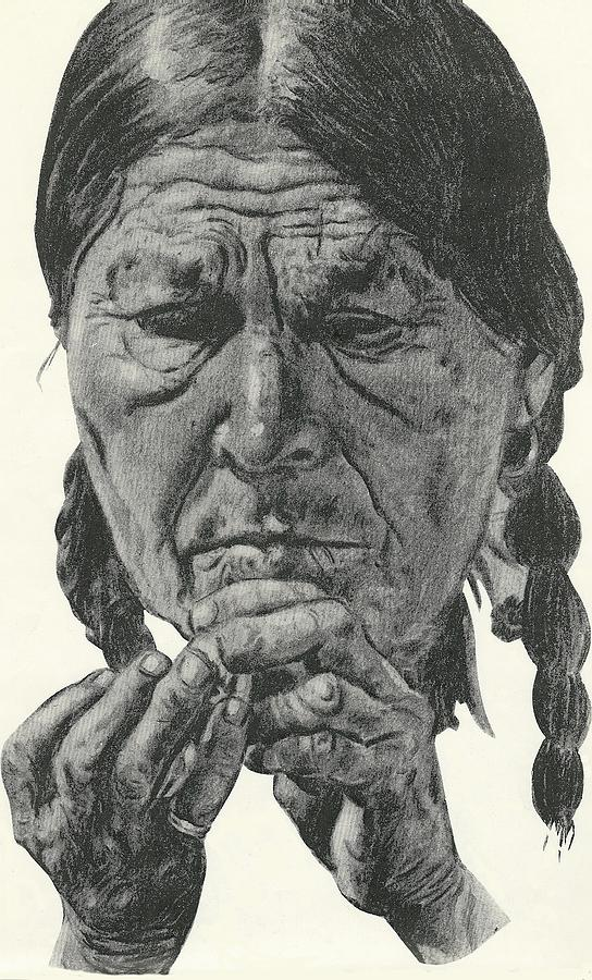 544x900 Indian Head Drawing By Vic Carrabotta