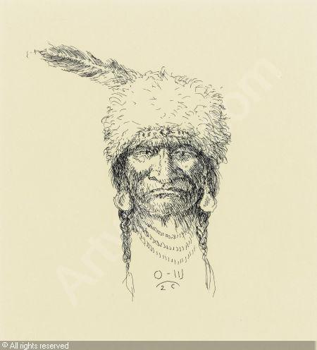 450x496 Indian Head Drawing Sold By Heritage Auctions, Dallas, On Saturday