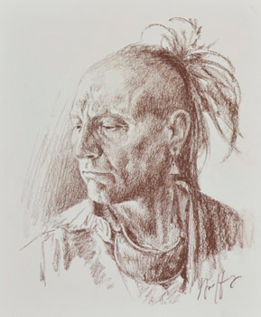 289x350 Indian Head Sketch