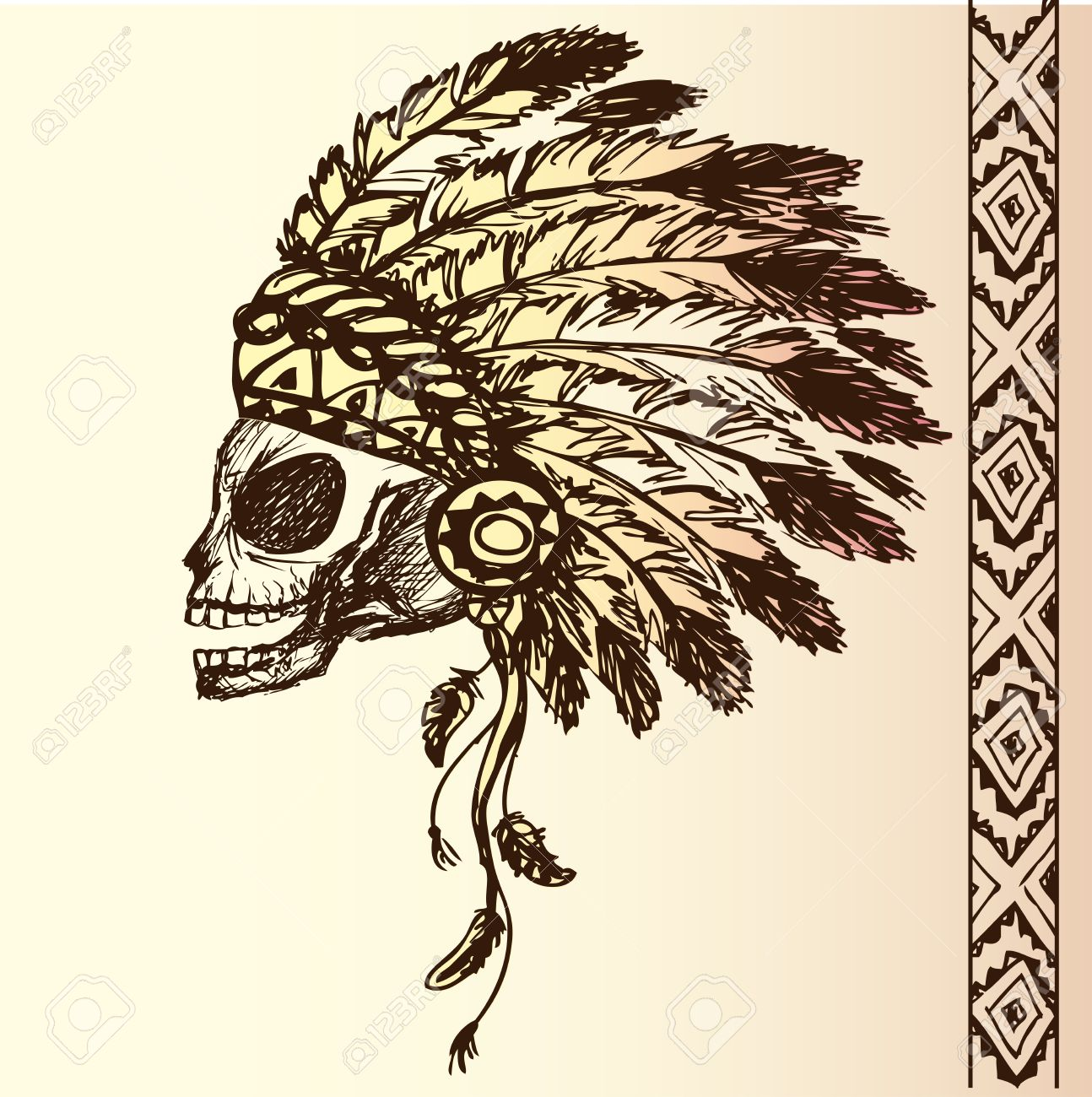 1294x1300 Native American Indian Chief Headdress (Indian Chief Mascot