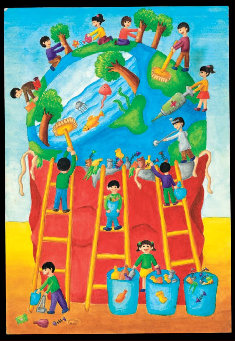 806x1168 Clean India Green India Posters Drawings In English
