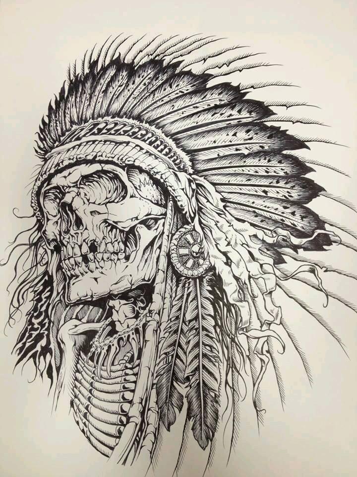 720x960 Indian Skull Skulls Amp Bones Tattoo, Tatting And Tatoo