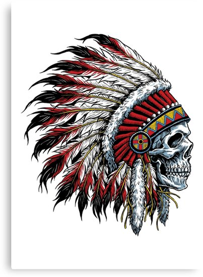 403x550 Indian Skull Canvas Prints By Traxim Redbubble