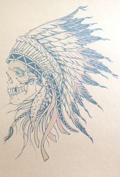 236x349 Apache Skull Tattoo