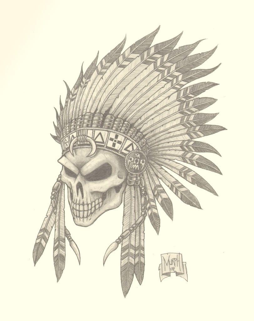 811x1023 Gladiatorr Skull Drawings Indian Skull Picture Tattoos