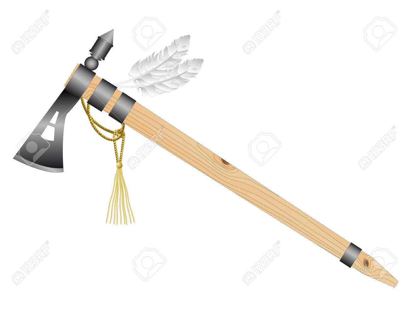 1300x1040 Indian Tomahawk Battle Ax On A White Background Royalty Free