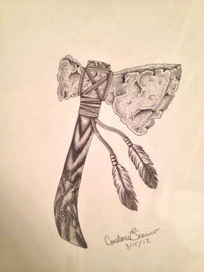 290x386 Native American Tomahawk Tattoo Images Tat Ideas