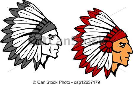 450x290 Brave Indian Warrior Mascot. Brave Indian Warrior Head