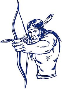 212x300 Native American Indian Warrior Bow Hunter Truck Window Vinyl Decal