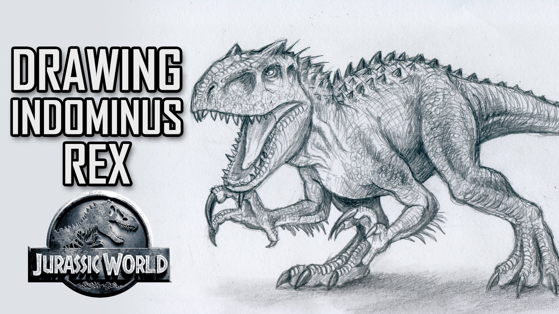 1920x1080 Drawing Indominus Rex From Jurassic World Speed Drawing