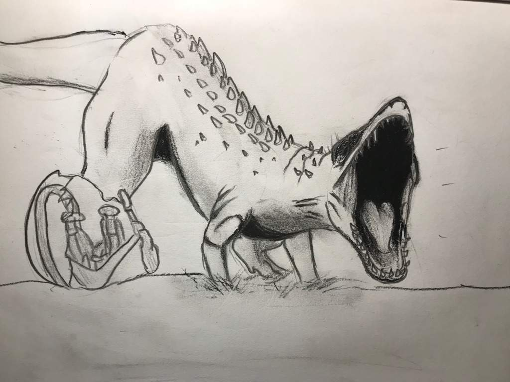 1024x768 Indominus Rex Drawing Dinosaur Lovers Amino