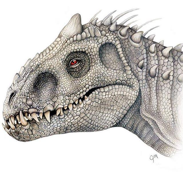 640x640 Indominus Rex Drawing By @juliannamaston.