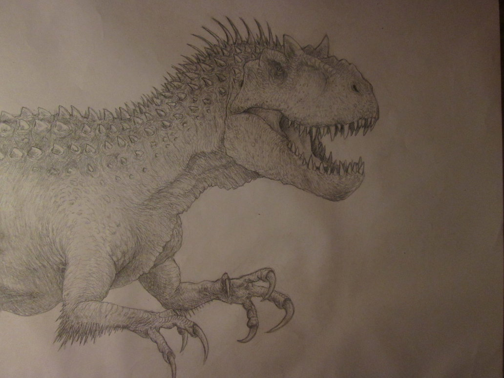 1032x774 Indominus Rex Concept Drawing By Anthonyhoogsteden