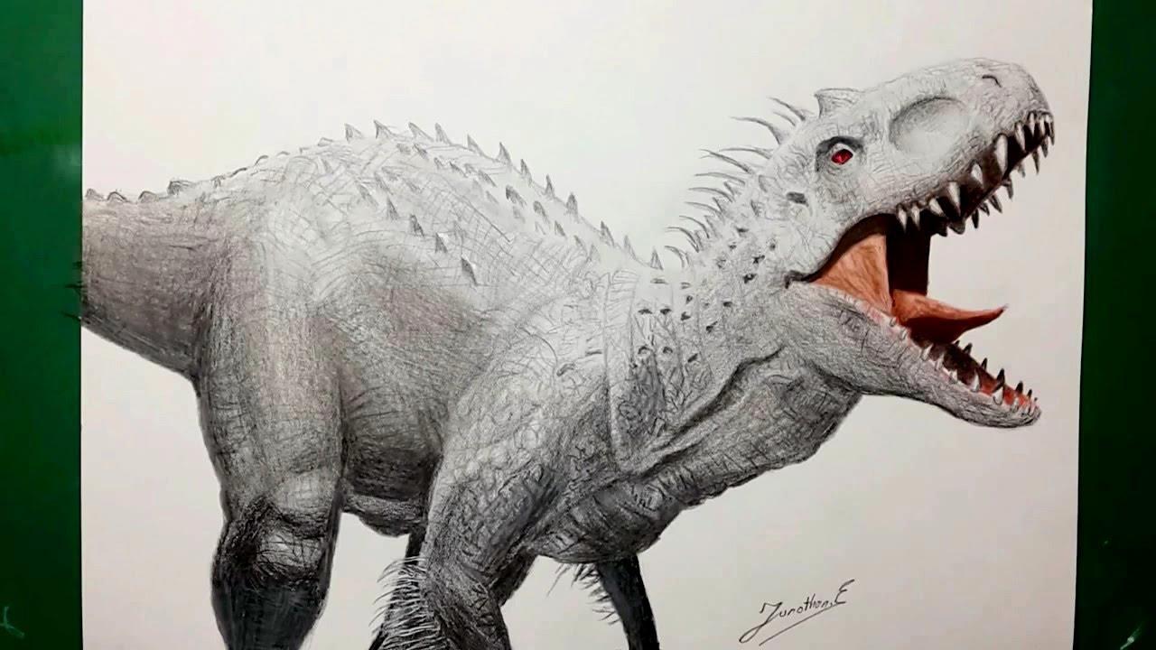 1280x720 Speed Drawing Indominus Rex Dibujando Al Indominus Rex